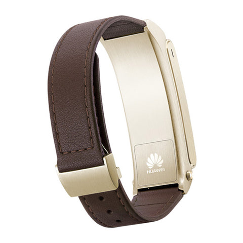 Huawei TalkBand B2 Brown Leather Smart Watch (Gold Case)