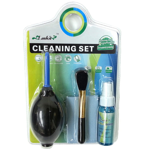 5-in-1 Mini Digital Cleaning Set for Camera / Screen / Video - Black