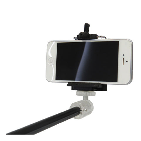 Mini Monopod Selfie Stick with Bluetooth Selfie Shutter Remote for SmartPhones (Black)