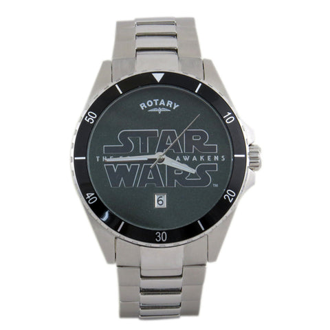 Rotary Star Wars The Force Awakens - Episode VII Collection Star Wars Logo RY7007D01 Silver Watch (New with Tags)