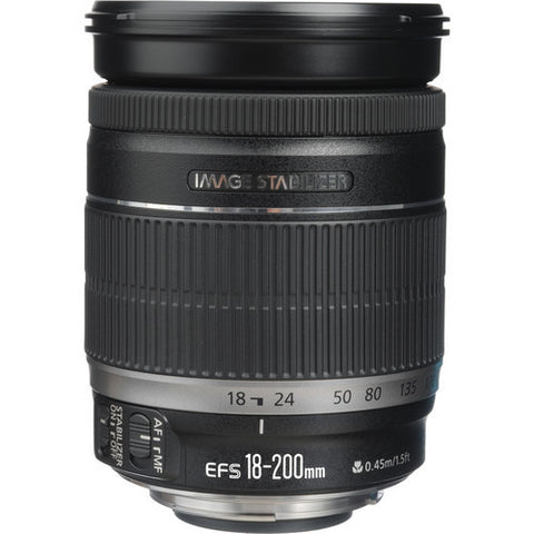 Canon EF-S 18-200mm f3.5-5.6 IS Lens (White Box)