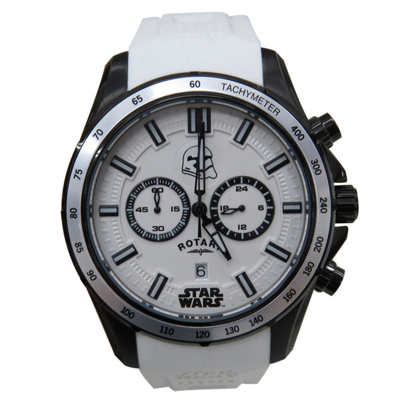 Rotary Star Wars The Force Awakens - Episode VII  Collection Captain Phasma RY7006C01 White Watch (New with Tags)