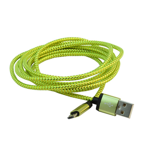 Micro USB 2m Cable (Green)
