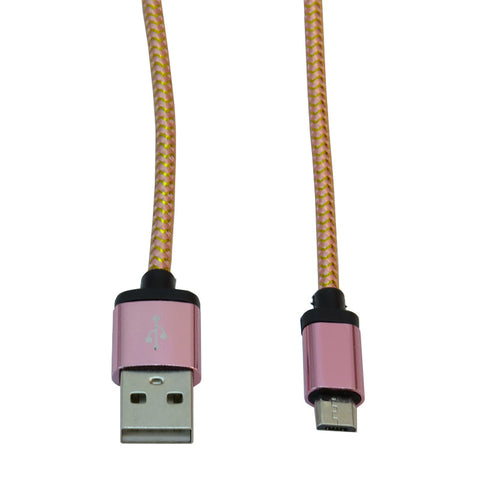 Micro USB 1m Cable (Pink)