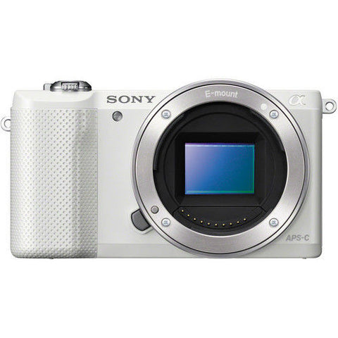 Sony Alpha A5000 ILCE-5000L with 16-50mm Lens White Mirrorless Digital Camera