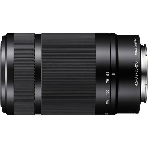 Sony E 55-210mm F/4.5-6.3 OSS Black Lens (White Box)