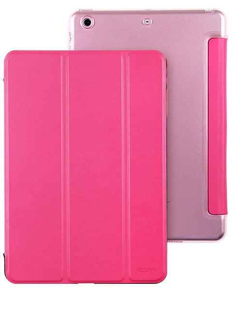 iPad Mini 1,2,3 Flip Cover with Hard Back Case (Peach Red)