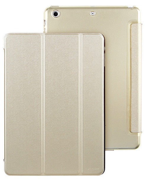 iPad Mini 1,2,3 Flip Cover with Hard Back Case (Champagne)