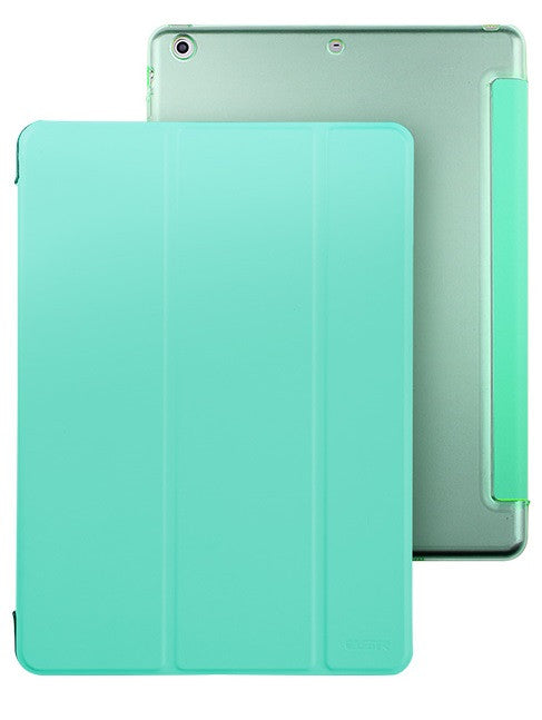 iPad Mini 1,2,3 Flip Cover with Hard Back Case (Mint Green)