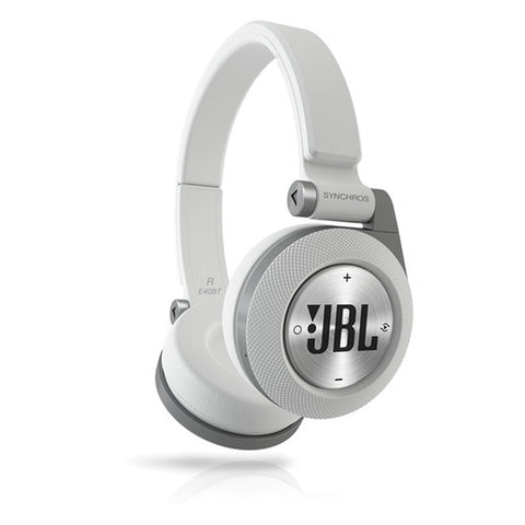 JBL Synchros E40BT On-Ear Headphones (White)