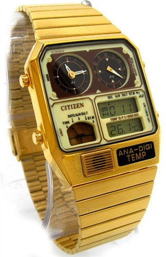 Citizen Retro Ana-Digi Temperature Classic JG2002-53P Watch (New with Tags)