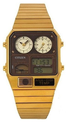 Citizen Retro Analog-Digital Temperature Classic JG2002-53W Watch (New with Tags)