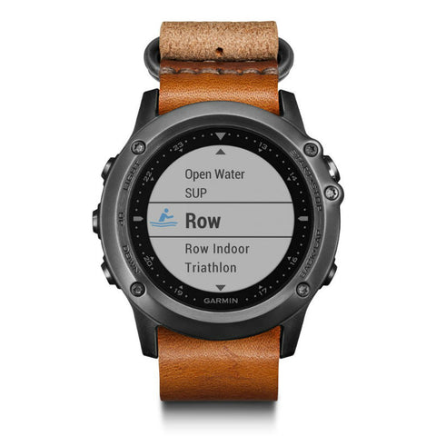 Garmin Fenix 3 Sapphire Bundle 010-01338-61 with Band (Leather Brown)