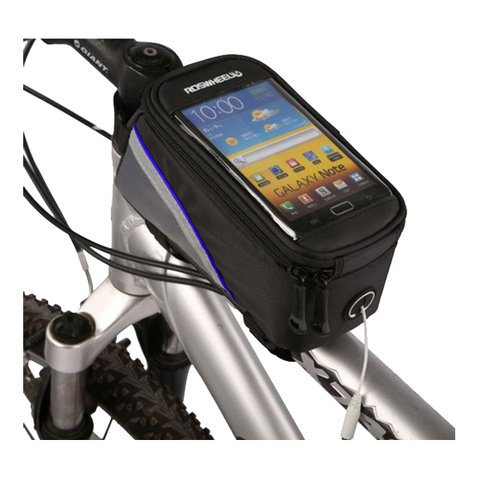Outdoor 5.5 inches Bicycle Large Phone Bag Blue