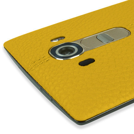 LG Genuine Leather CPR-110 Back Cover to suit LG G4 (Yellow)