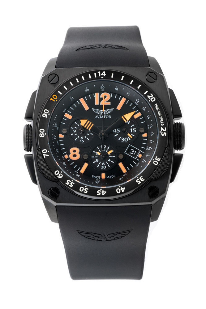 Aviator Swiss Cockpit Quartz M20450706 Watch (New with Tags)