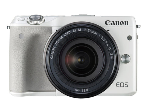 Canon EOS M3 with 18-55mm White Digital SLR Camera