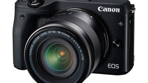Canon EOS M3 with 22mm and 18-55mm Black Digital SLR Camera