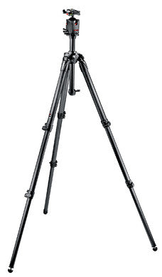 Manfrotto MK057C3-M0Q5 057 Carbon Fiber Tripod Kit with 3 Sections Ball Head Q5 Grey