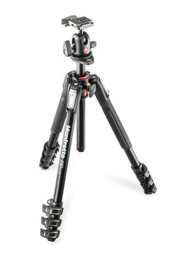 Manfrotto MK190XPRO4-3WCN 190 Aluminum Tripod 4 Section Kit With 3 Way Head