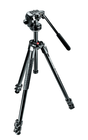 Manfrotto MK290XTA3-2W 290 Xtra Kit, Aluminum 3 section Tripod with fluid head