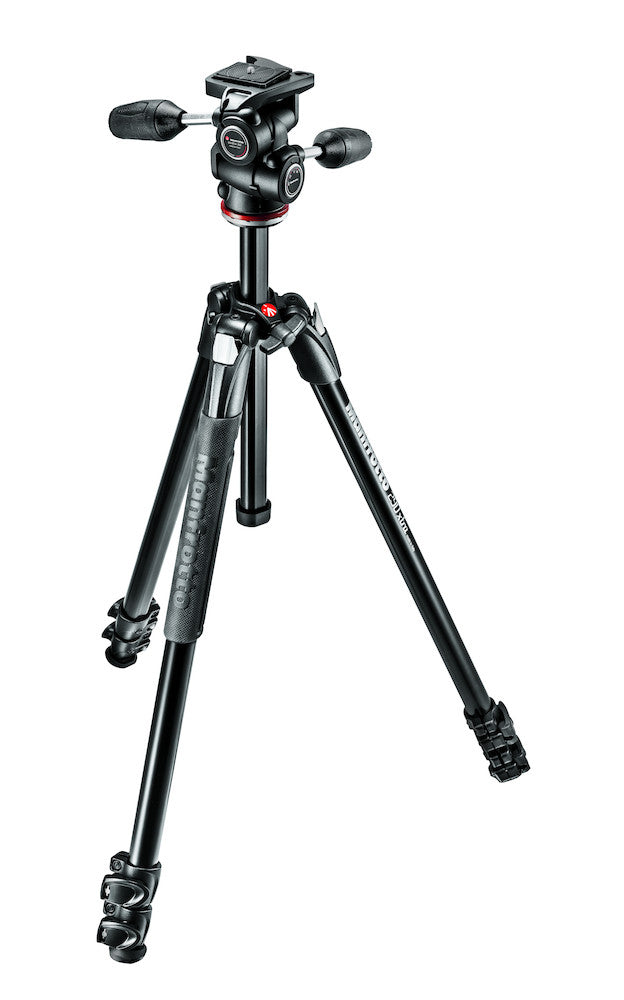 Manfrotto MK290XTA3-3W 290 Xtra Kit, Aluminum 3 section Tripod with 3-way head