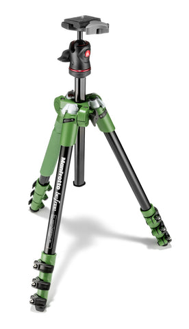 Manfrotto MKBFRA4G-BH Befree Aluminum Tripod With Ball Head Green