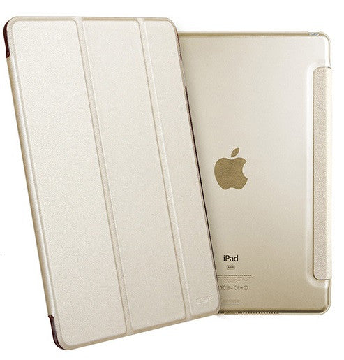 iPad Mini 4 Flip Cover with Hard Back Case (Champagne)