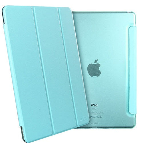 iPad Mini 4 Flip Cover with Hard Back Case (Breeze Blue)
