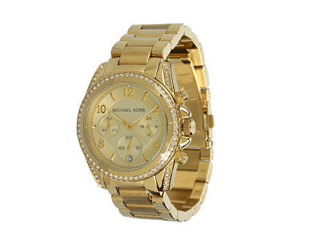 Michael Kors Blair Golden Runaway With Glitz MK5166 Watch (New With Tags)