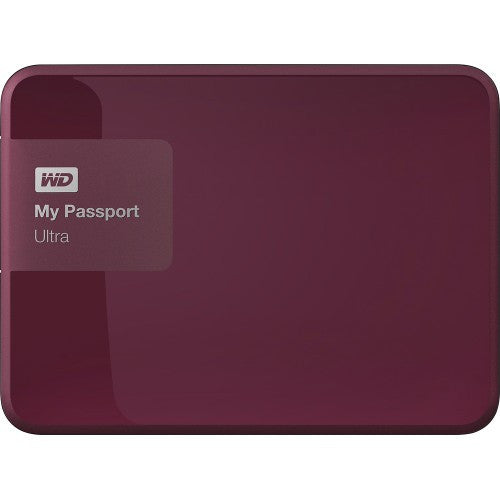 WD My Passport Ultra USB 3.0 3TB External Hard Drive (Berry) WDBBKD0030BBY-CESN
