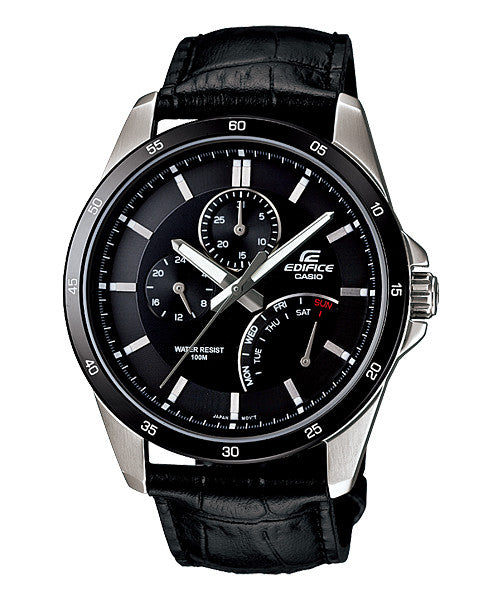 Casio Edifice Multi-Hand EF-341L-1A Watch (New With Tags)