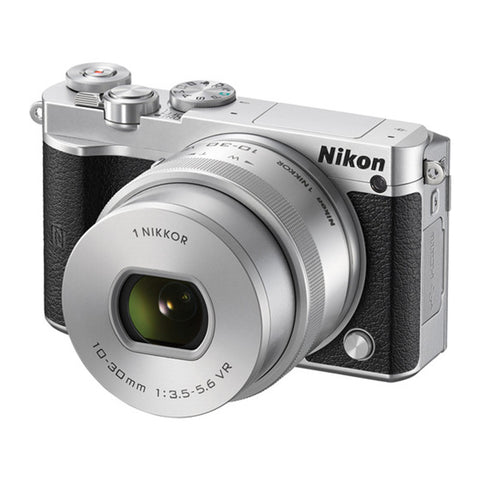 Nikon 1 J5 with 10-30mm Silver Mirrorless Digital Camera