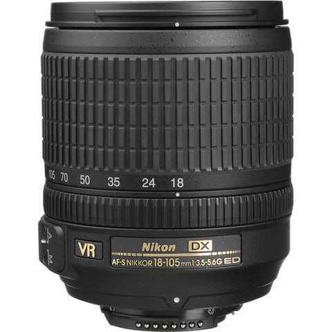 Nikon AF-S DX Nikkor 18-105mm f3.5-5.6G ED VR Lens (White Box)
