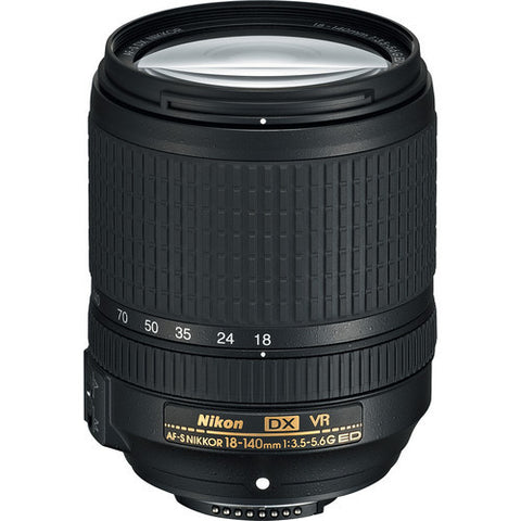 Nikon AF-S DX Nikkor 18-140mm f3.5-5.6G ED VR Black Lens (White Box)