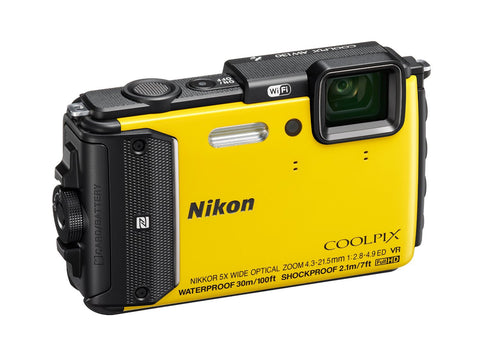Nikon Coolpix AW130 Yellow Digital Camera