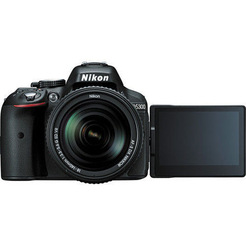 Nikon D5300 Kit with 18-140mm VR Lens Black Digital SLR Cameras