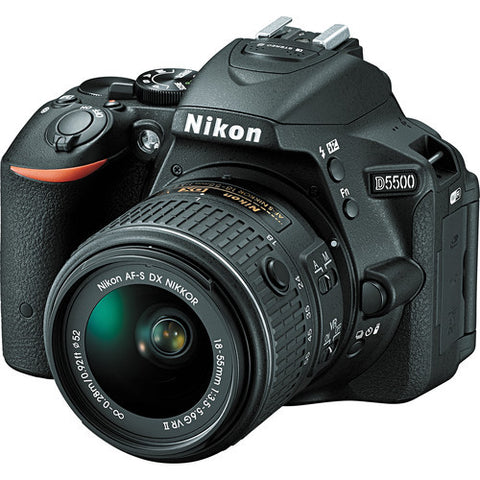 Nikon D5500 Kit with 18-55mm VR II and 55-200mm Black Digital SLR Camera