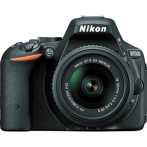 Nikon D5500 with 18-55mm VR II Black Digital SLR Camera