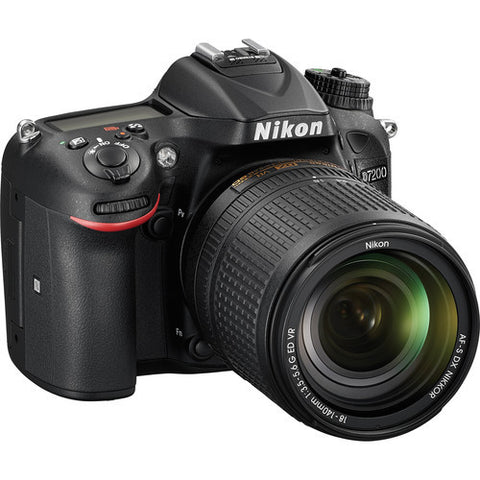 Nikon D7200 with 18-140mm Black Digital SLR Camera
