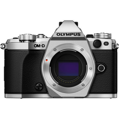 Olympus OM-D E-M5 Mark II with 12-50mm Mirrorless Micro 4/3 Lens Silver Digital SLR Camera