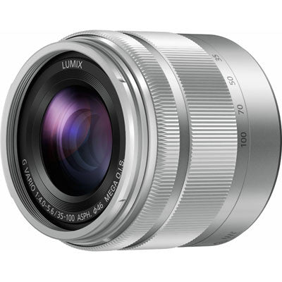 Panasonic Lumix G Vario 35-100mm F4.0-5.6 Silver Lens (White Box)