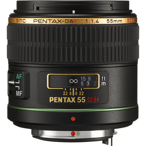 Pentax smc DA* 55mm f1.4 SDM Black Lens