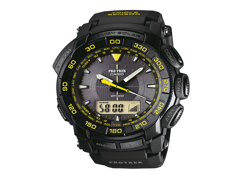 Casio Protrek Tough Solar Triple Sensor PRG-550G-1DR Watch (New with Tags)