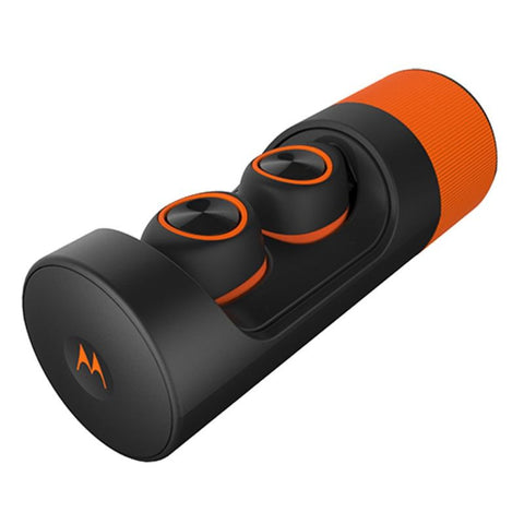 VerveLife VerveOnes+ True Wireless Bluetooth Earbuds by Motorola (Black Orange)