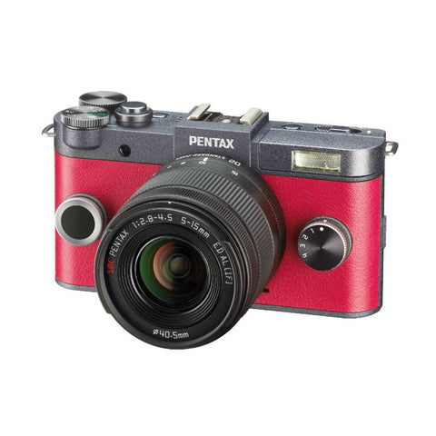 Pentax Q-S1 Red Mirrorless Digital Camera with 5-15mm & 15-45mm Lenses