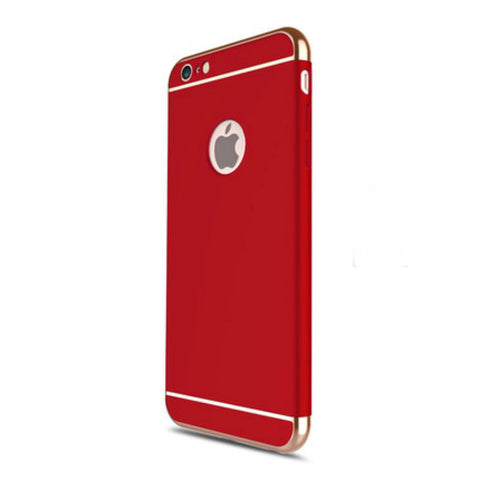 Hard Shell Case 5.5 inch for iPhone 6/6s Plus (Red Steel Film)