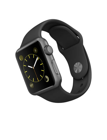 Apple Watch Sports 38mm Aluminum Case Black Sport Band MJ2X2LL/A (Gray)