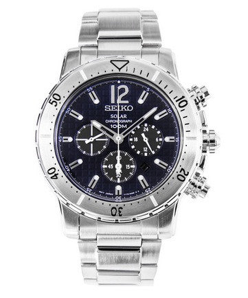 Seiko Solar Powered Chronograph SSC221P1 Watch (New with Tags)