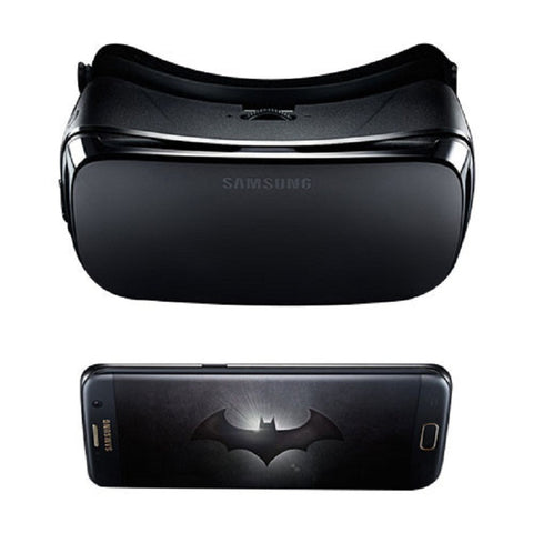 Samsung Galaxy S7 Edge Dual 32GB 4G LTE Black (SM-G9350) (Injustice Batman Limited Edition) Unlocked with Samsung Gear R322 Virtual Reality